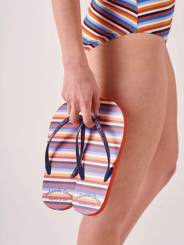 Marley MULTI Stripe Flip Flops   Quba & Co