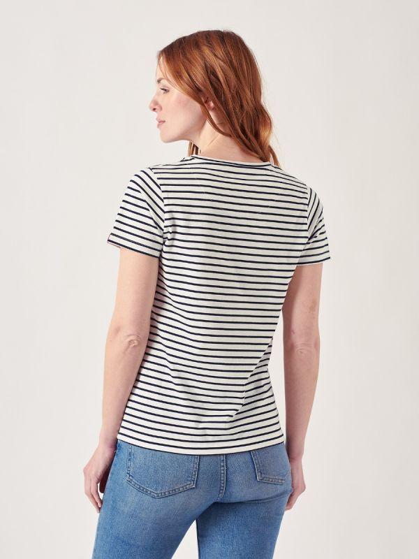 Mayan WHITE Stripe T-Shirt | Quba & Co