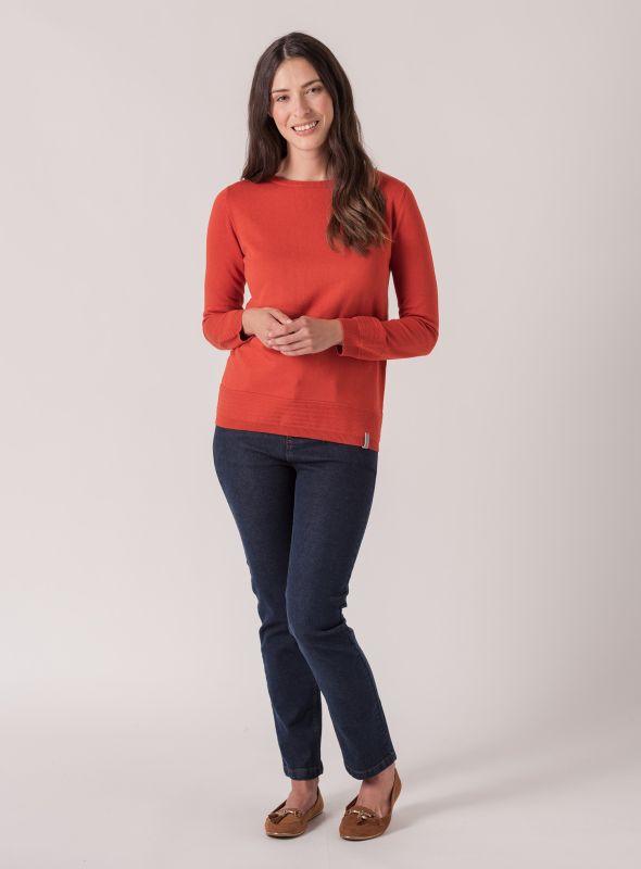 Mona Knit Jumper - Marmalade Orange | Quba & Co Knitwear