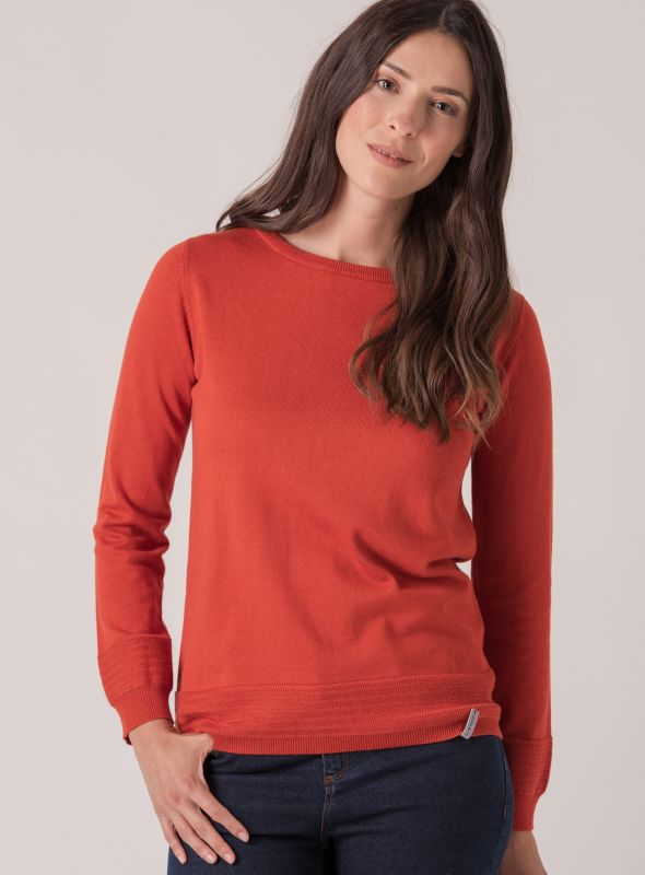 Mona Knit Jumper - Marmalade Orange