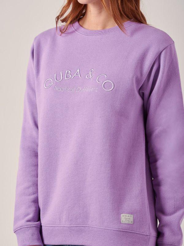 Netanta VIOLET Logo Sweatshirt | Quba & Co