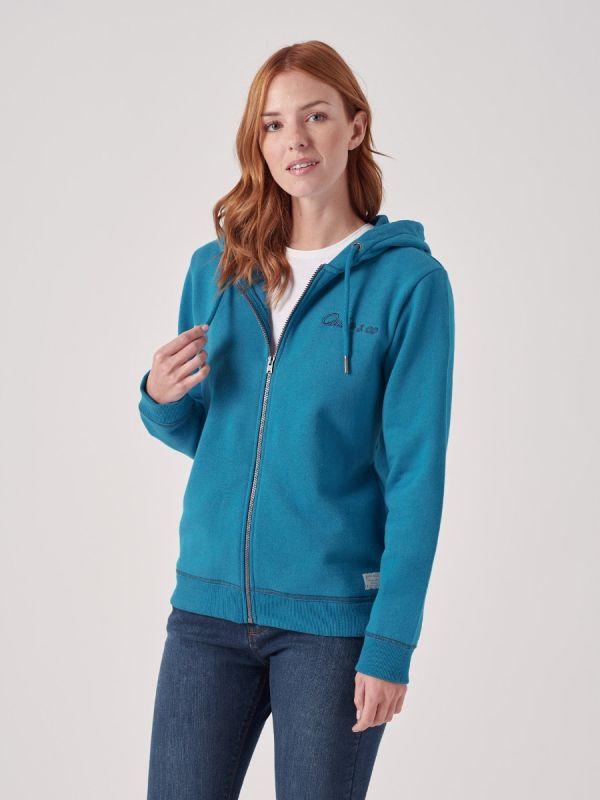 Nicolette BLUE Full Zip Hoodie | Quba & Co