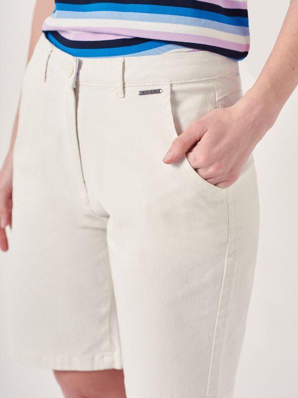 Orla WHITE Chino Shorts | Quba & Co