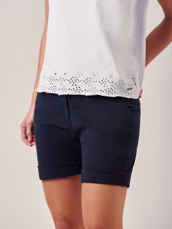 Orla NAVY Chino Shorts   Quba & Co