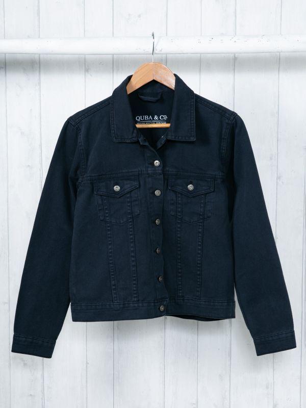 Passion NAVY Denim Jacket   Quba & Co