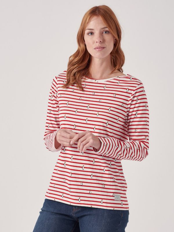 Penny RED Long Sleeve T-Shirt | Quba & Co