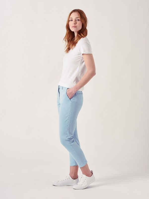 Polina NAVY Chino Trousers   Quba & Co