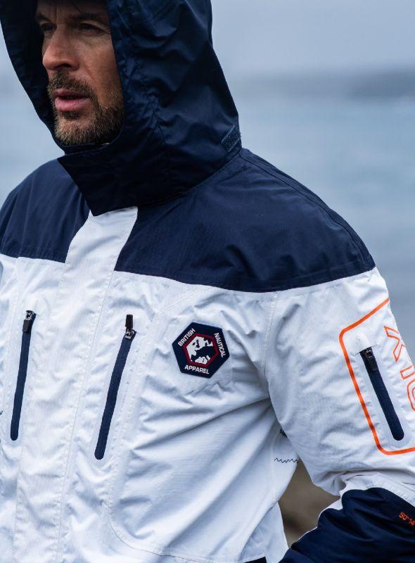 X10 Sport Mens Technical Sailing Jacket - White & Navy