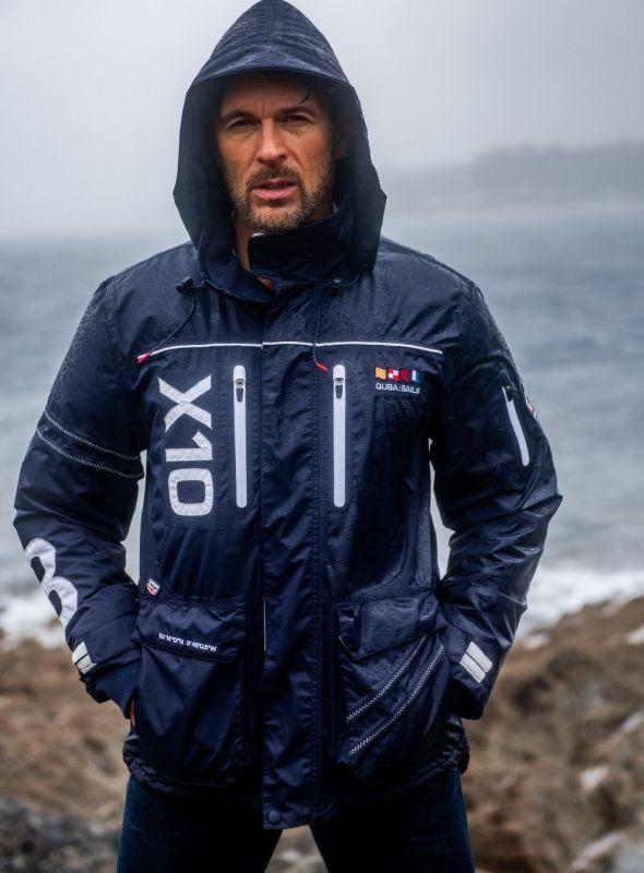 X10 Sport Men's Technical Sailing Jacket - Navy | Quba & Co Waterproof Outerwear