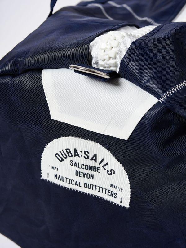 Rebel NAVY Large Barrel Bag | Quba & Co