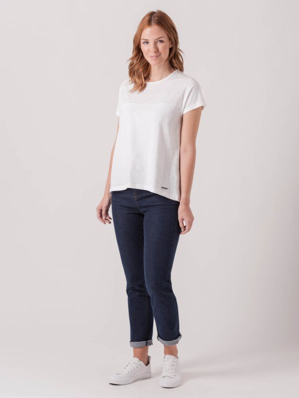 Remie WHITE Broderie Top   Quba & Co