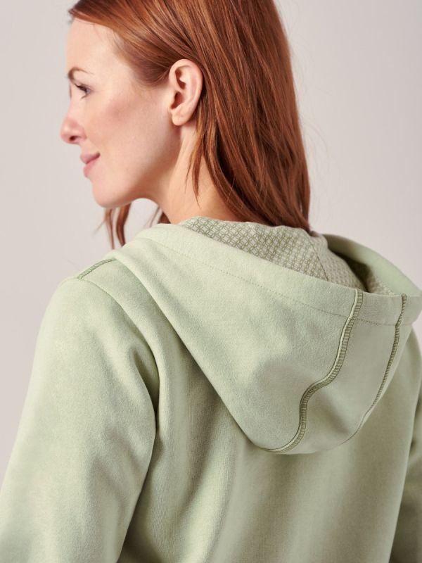 Renata SEAFOAM GREEN Full Zip Hoodie | Quba & Co