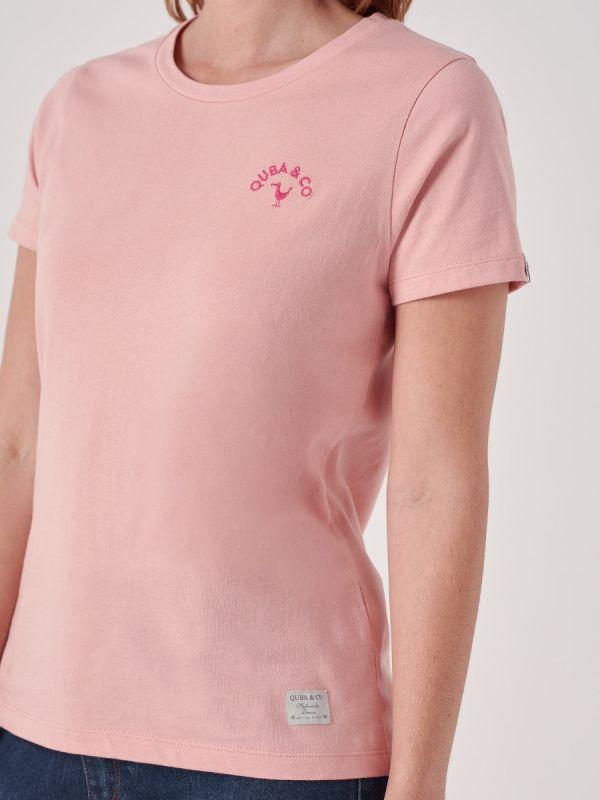 Rosline PINK Logo T-Shirt | Quba & Co