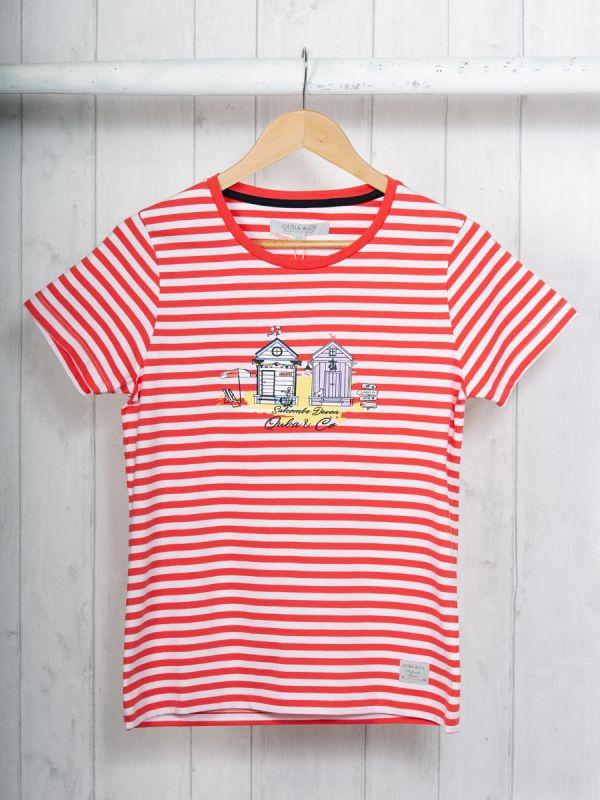 Stella RED Salcombe T-Shirt | Quba & Co