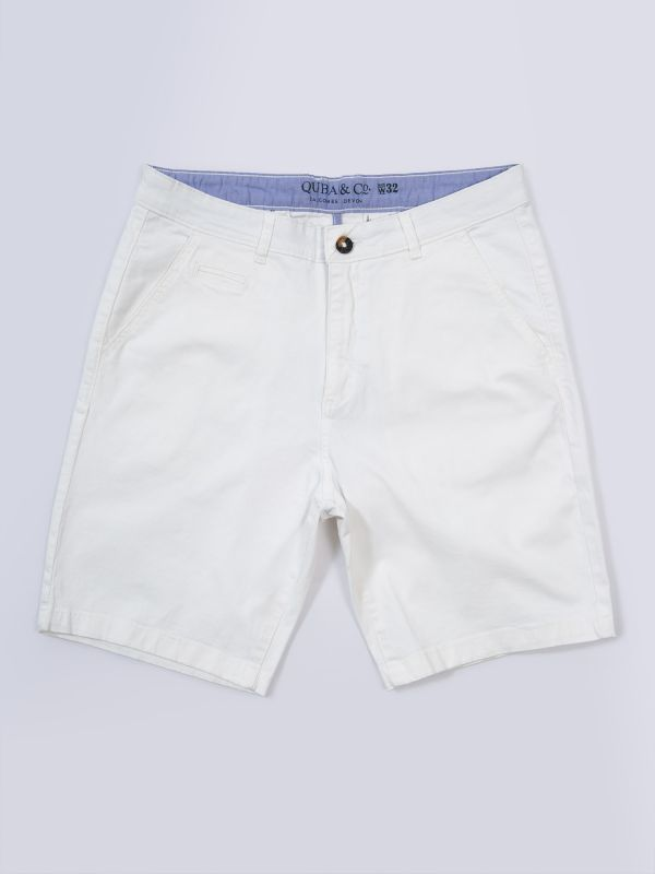 Santanna WHITE Chino Shorts   Quba & Co