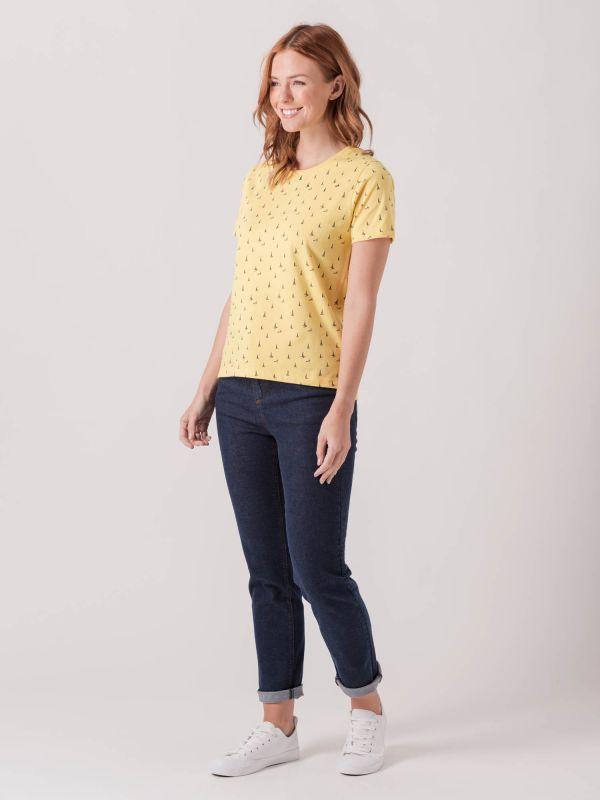 Sanvitalia YELLOW Boat Print T-Shirt   Quba & Co