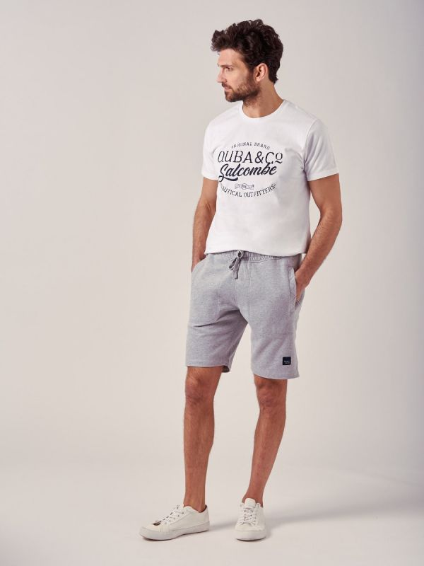 Season GREY MARL Fleece Shorts | Quba & Co