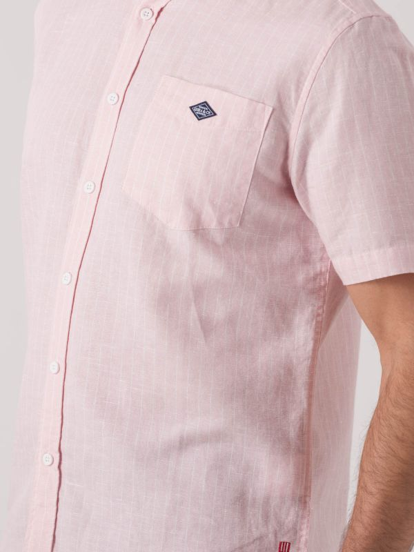 Sergio Short Sleeve Pinstripe Shirt