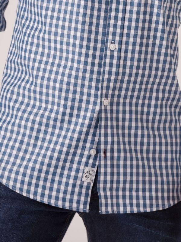 Shannon Long Sleeve Check Shirt - Gibraltar Blue