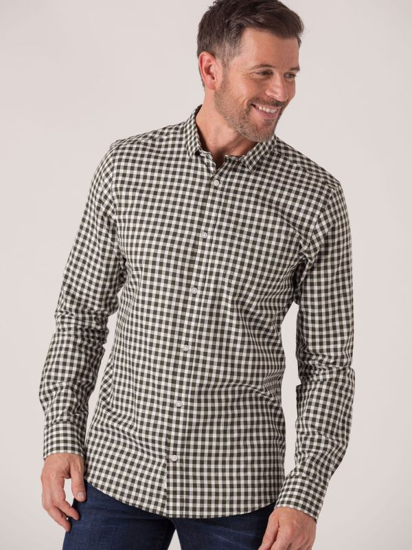 Shannon Long Sleeve Check Shirt - Forest Green