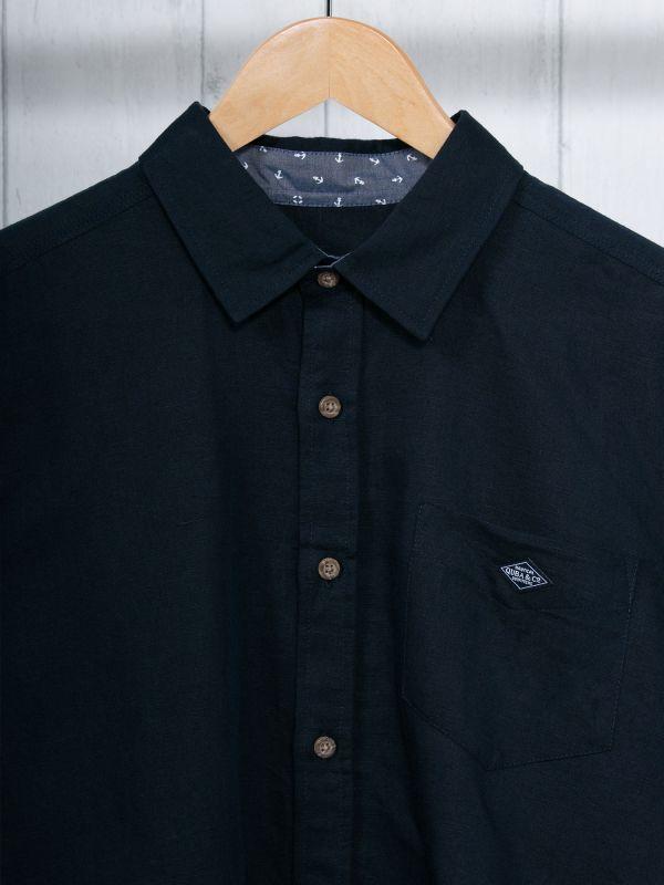 Silvester NAVY Long Sleeve Shirt | Quba & Co