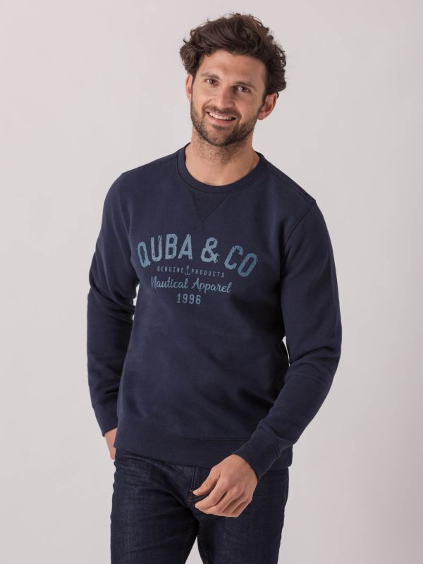 Silvio NAVY Graphic Sweatshirt | Quba & Co