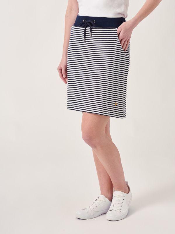 Stefani NAVY Jersey Skirt | Quba & Co