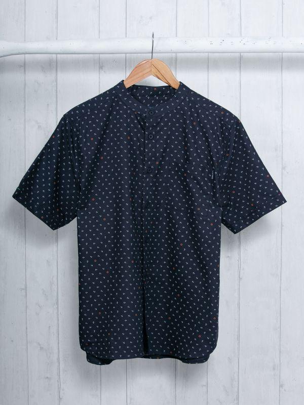 Stefano NAVY Short Sleeve Shirt   Quba & Co