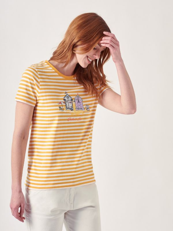 Stella MELON ORANGE Stripe T-Shirt   Quba & Co