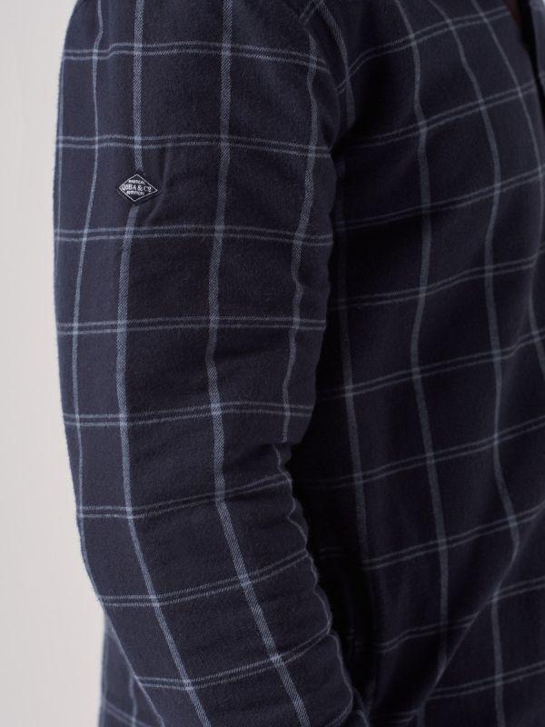 Sudbury NAVY Quilted Shirt   Quba & Co