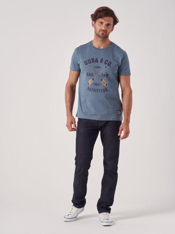 Talas BLUE Printed T-Shirt | Quba & Co