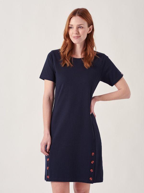Tamara NAVY Jersey Dress | Quba & Co