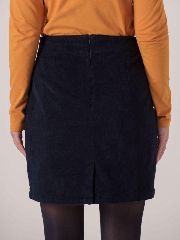 Terese Cord Skirt - Navy