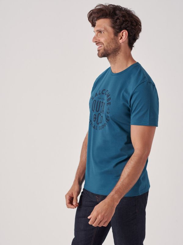 Terrace BLUE Printed T-Shirt   Quba & Co