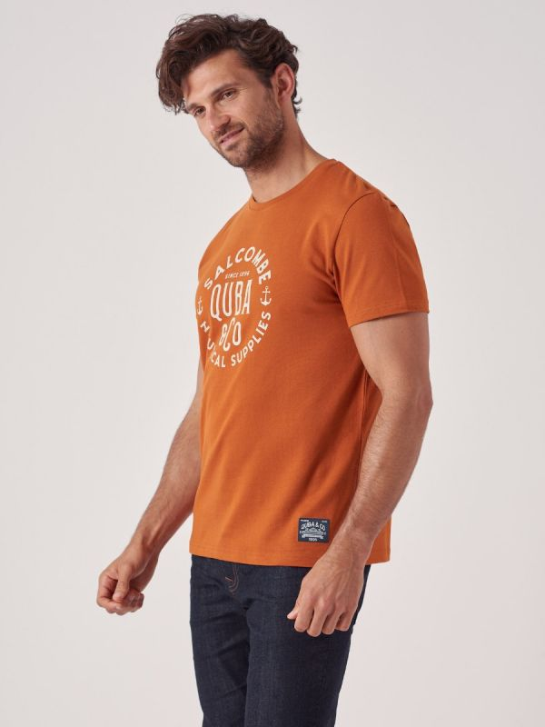 Terrace TOFFEE BROWN T-Shirt   Quba & Co