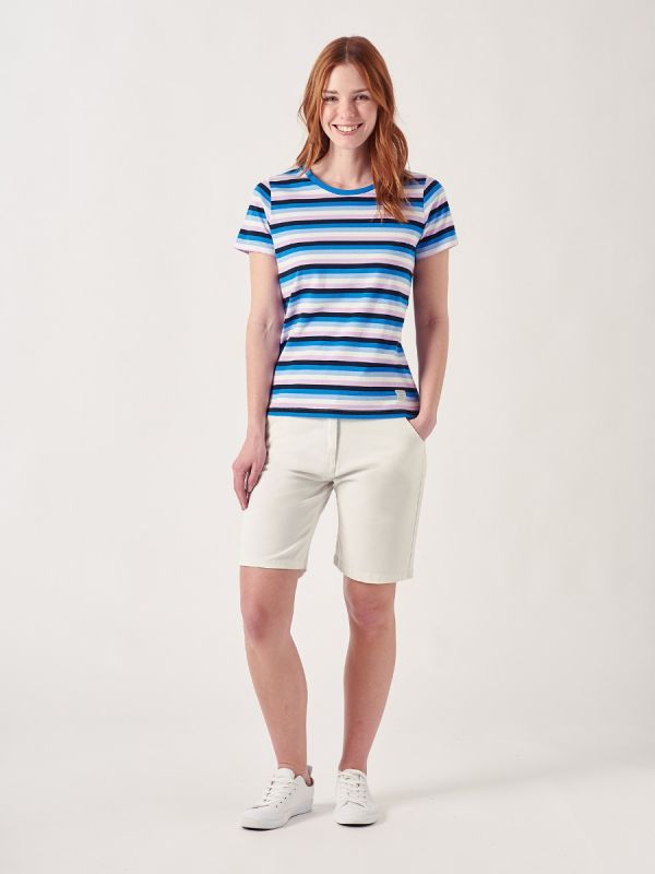 Tessey CORNFLOWER BLUE Stripe T-shirt | Quba & Co