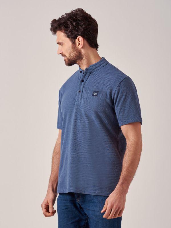 Thornton BLUE Pique T-Shirt   Quba & Co