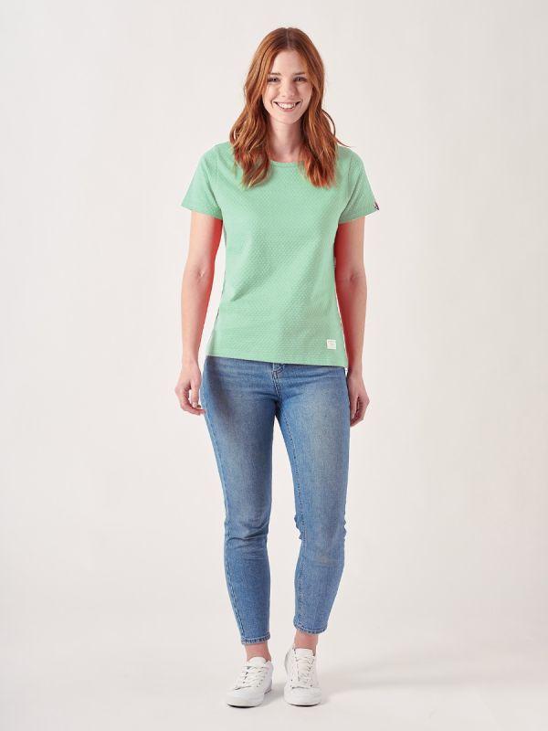 Tonya GREEN Textured T-Shirt | Quba & Co