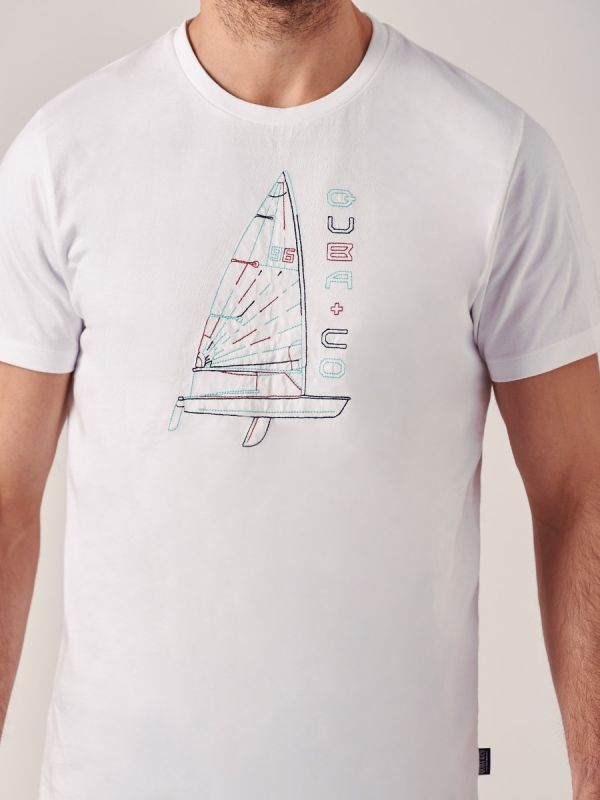 Trafalgar WHITE Graphic T-Shirt   Quba & Co