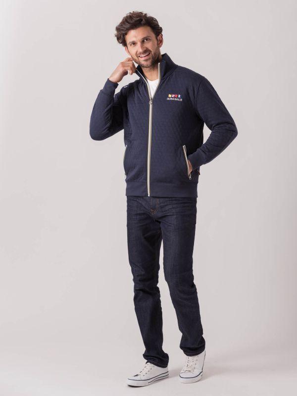 Tristan X-Series NAVY Full Zip Sweatshirt   Quba & Co