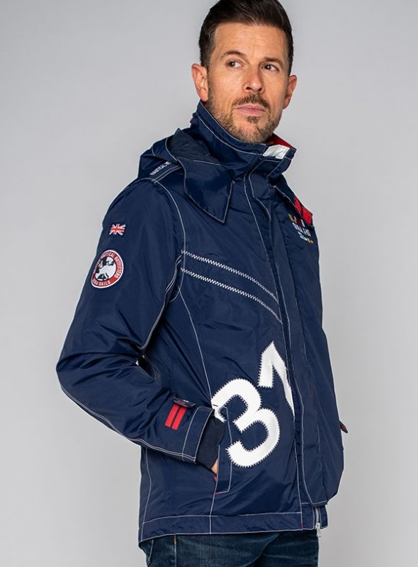 X10 Heritage Mens Technical Sailing Jacket - Navy | Quba & Co Waterproof Outerwear