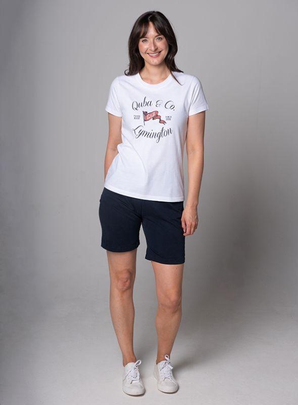 Women's Lymington Location T-Shirt - White | Quba & Co Tops & T-Shirts