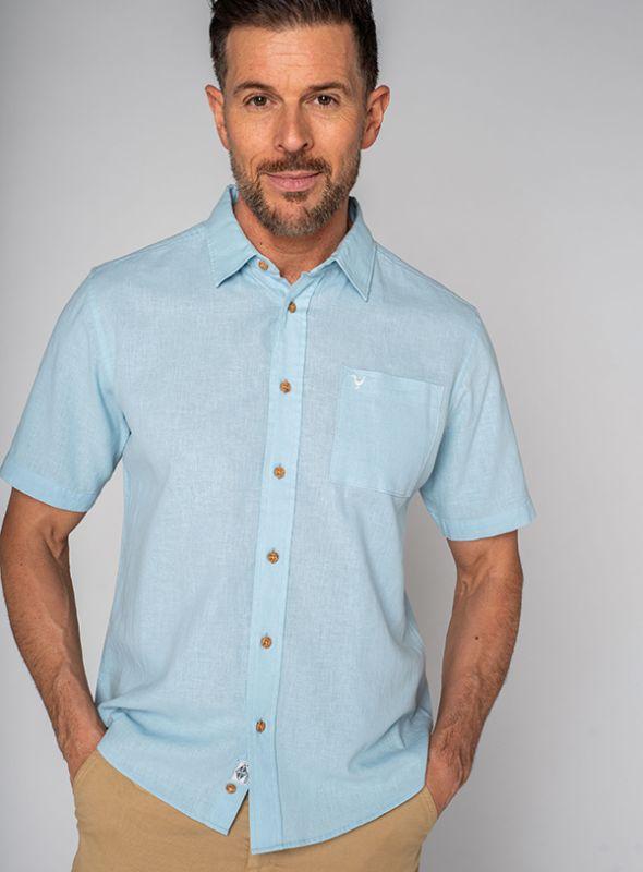 Lionel Short Sleeve Shirt - Light Bluefish