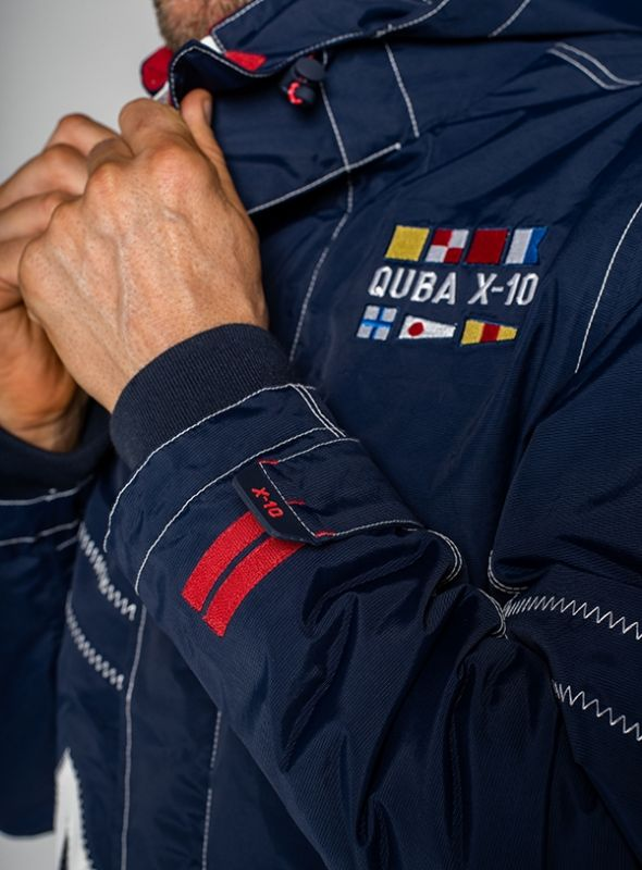 X10 Heritage Mens Technical Sailing Jacket - Navy