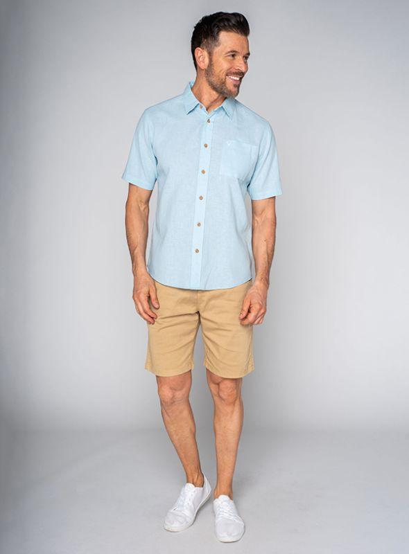 Lionel Short Sleeve Shirt - Light Bluefish | Quba & Co Shirts