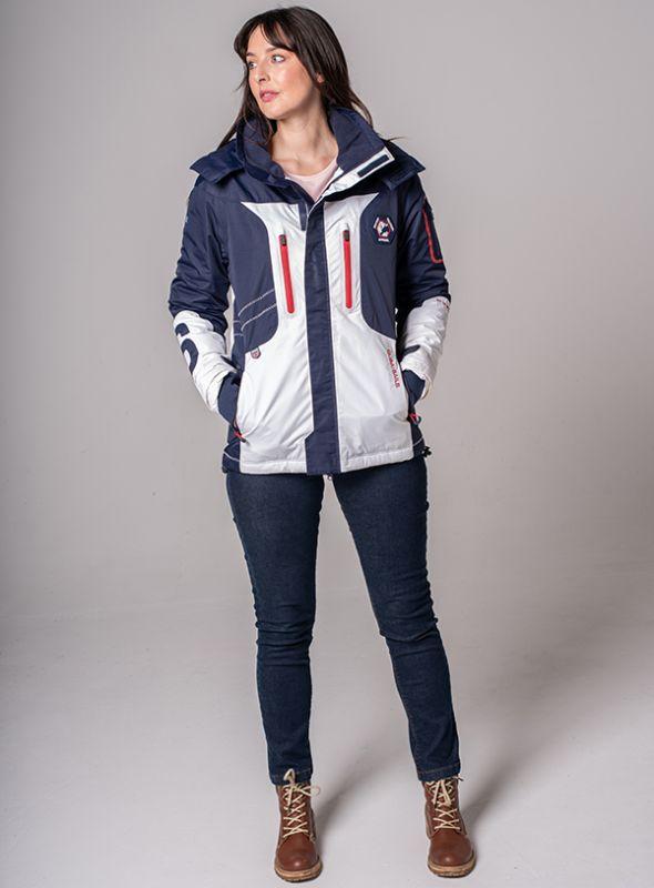 X10 Sport Womens Technical Sailing Jacket - White & Navy