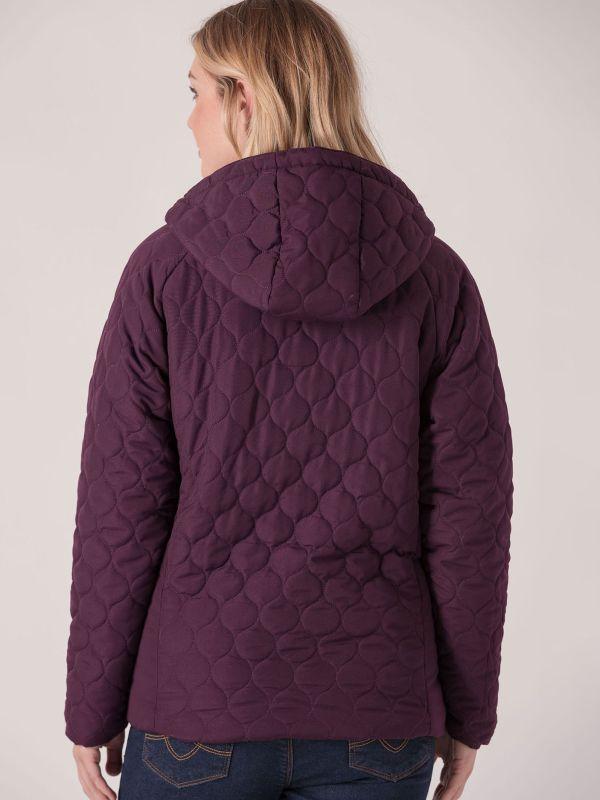 Valda Quilted Jacket - Purple