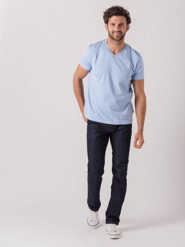 Vincent LIGHT BLUE V-Neck T-Shirt   Quba & Co