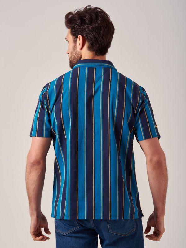 Warwick AZURE BLUE Stripe Shirt   Quba & Co