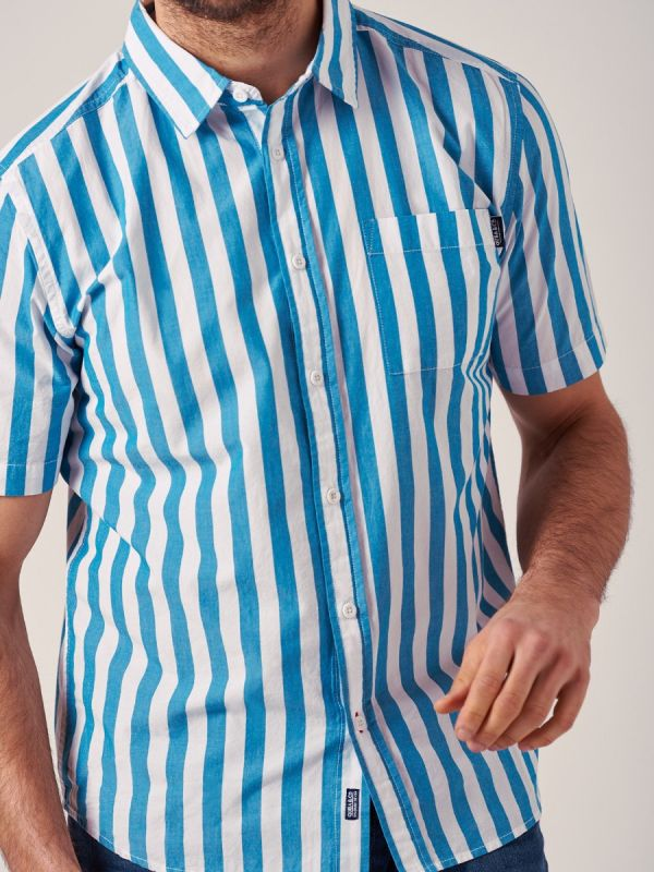 Westgate BLUE Short Sleeve Shirt   Quba & Co